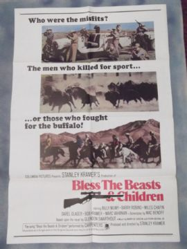 Bless the Beasts and Children, Movie Poster, Bill Mumy, * Kramer film * '71